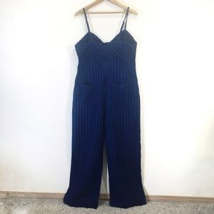 Anthropologie Pants - Anthropologie Stretch Jumper Jumpsuit  Pinstripe